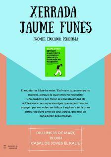 Cartell Xerrada Juame Funes